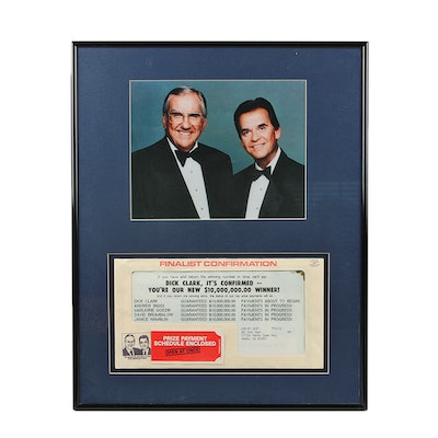 Framed American Family Publishers Mailing to Dick Clark