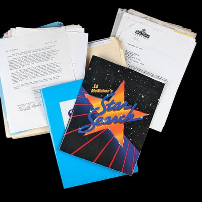 """Collection of Ed McMahon's """"Star Search"""" Documents, Letters and Memos"""