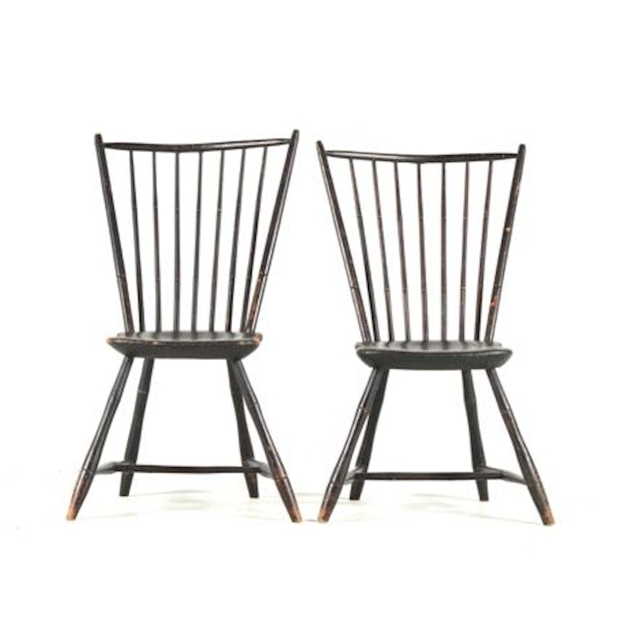 Black Spindle Back Chairs