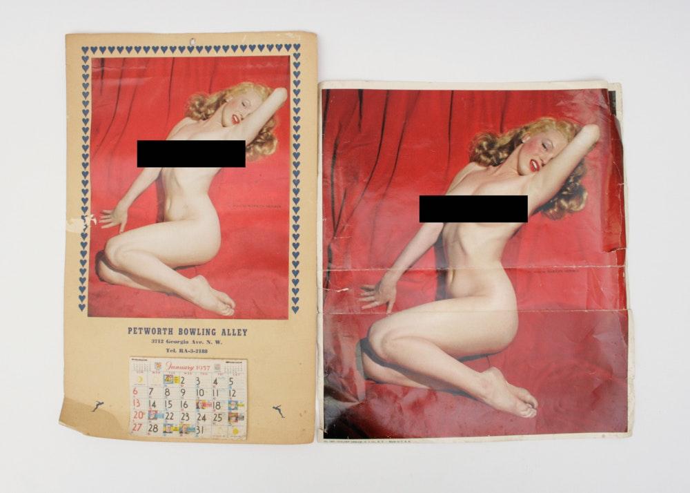 Nude Marilyn Monroe Poster And 1957 Calendar Ebth