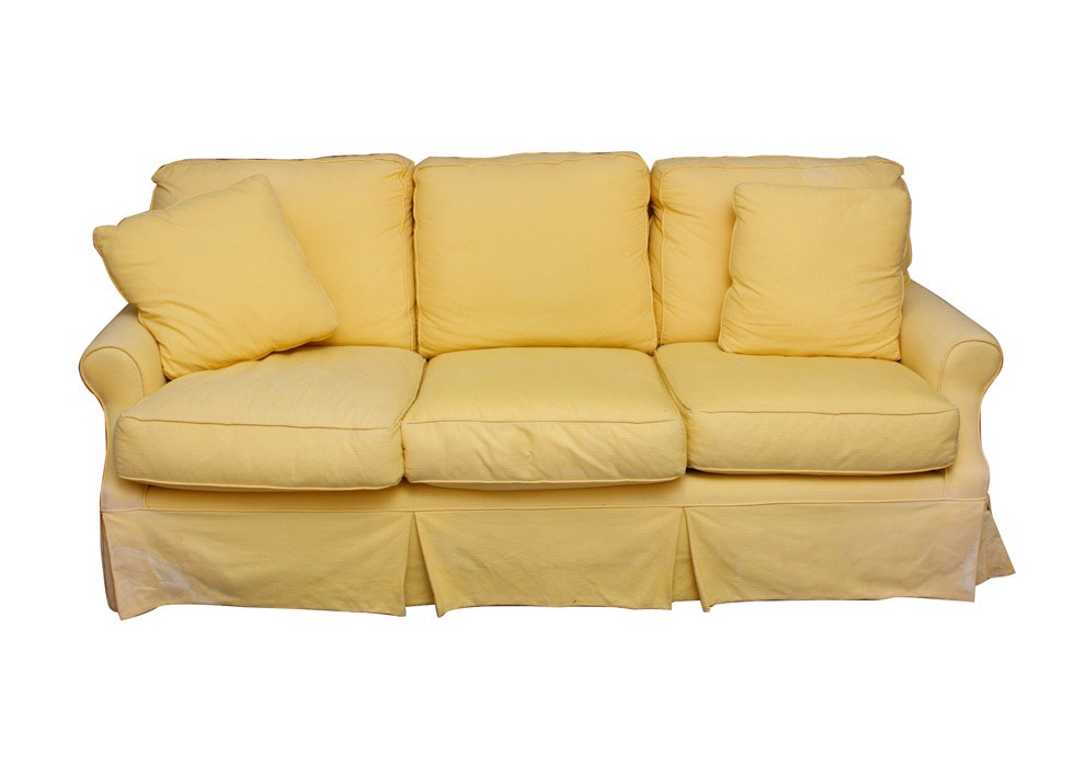 Fine French Country Living Overstuffed Couch Ebth