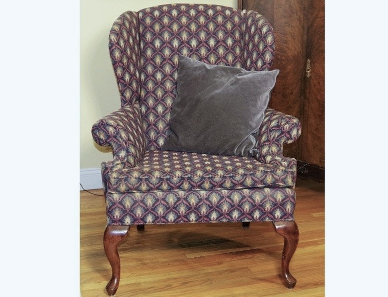 Fairfield Queen Anne Style Wingback Chair ...