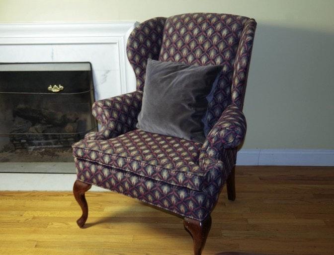 Great Fairfield Queen Anne Wingback Chair ...