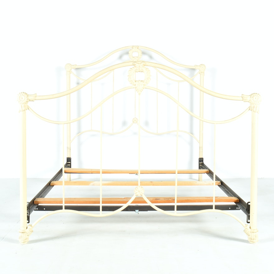 Cast iron full size headboard footboard and frame ebth for Full size footboard