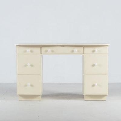 White Writing Desk - Vintage Desks, Antique Desks And Used Desks Auction In Lexington, KY