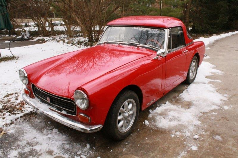 Red 1972 Mg Midget Sprite Hard Top Convertible Classic