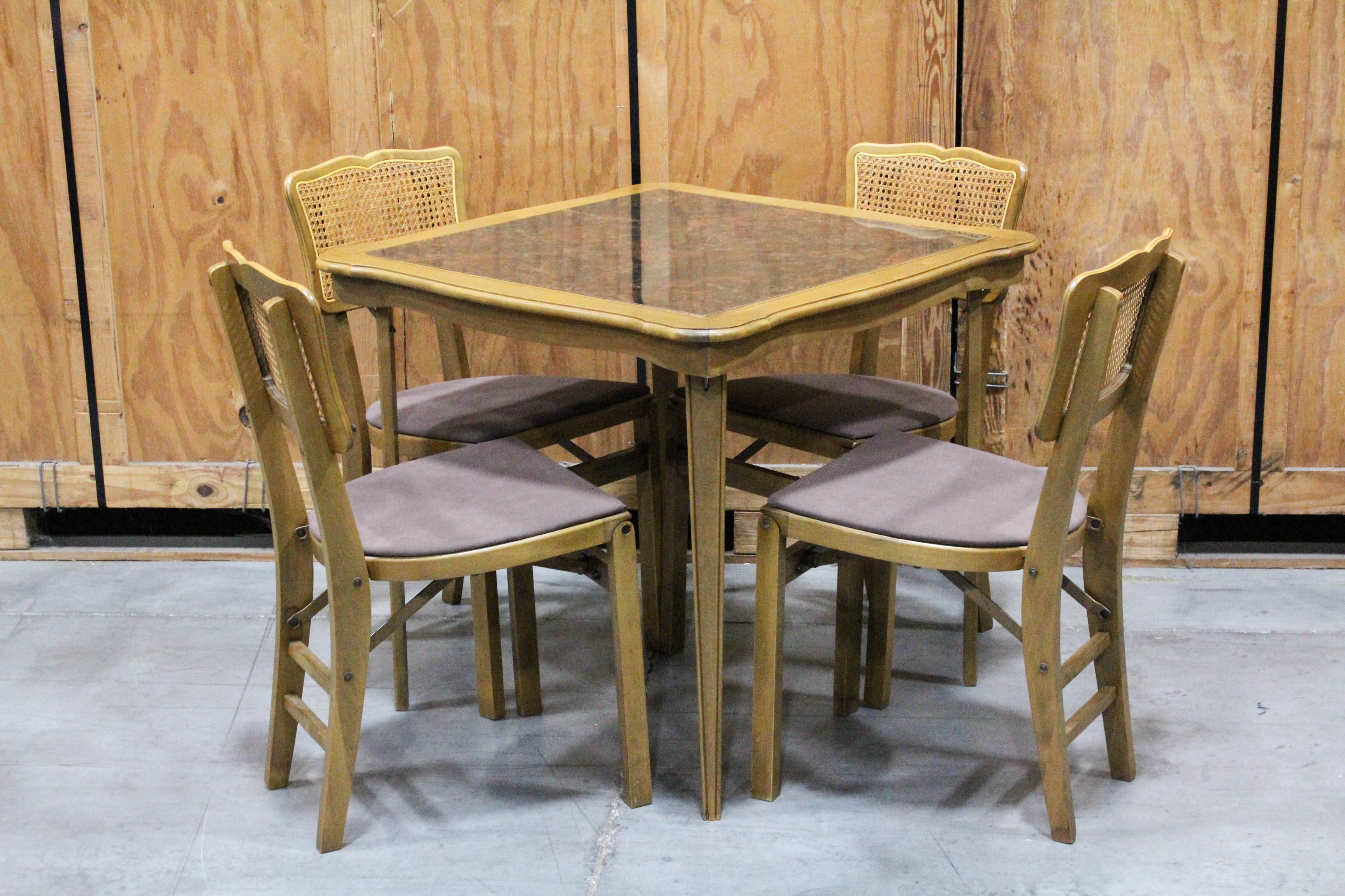 Vintage Stakmore Folding Table And Chairs ...