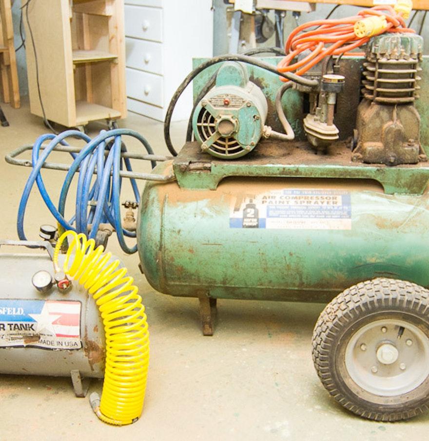 Campbell Hausfeld Air Tank : Sears air compressor and campbell hausfeld tank ebth