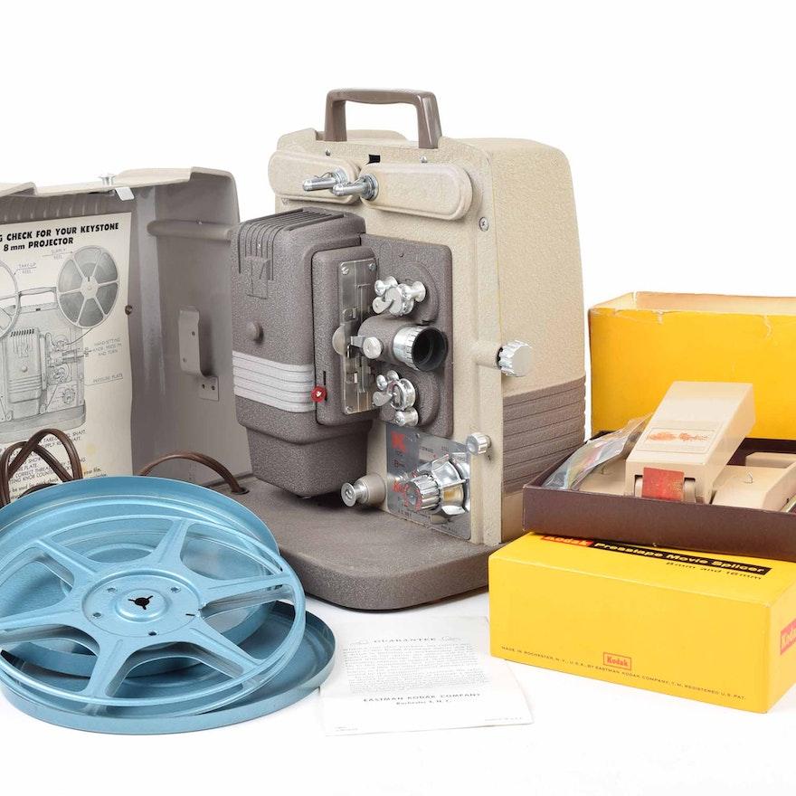 Vintage Keystone 8MM Film Projector Model K100