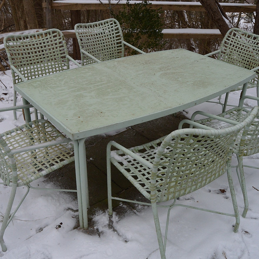 Mid Century Brown Jordan Patio Dining Table And Chairs Ebth