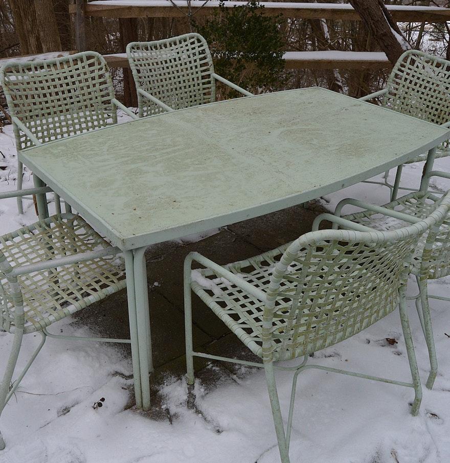 MidCentury Brown Jordan Patio Dining Table And Chairs  EBTH - Jordan outdoor furniture