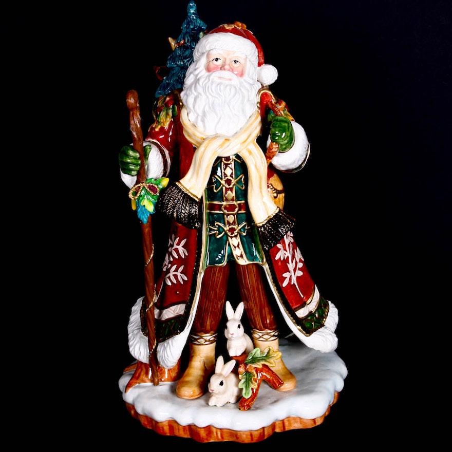 Christmas Tree Disposal San Diego: Fitz And Floyd Holiday Solstice Santa Figurine