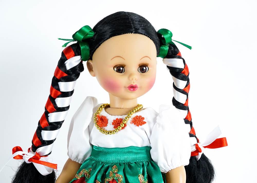 Trio of Handmade Regional Mexican Dolls by Eny : EBTH