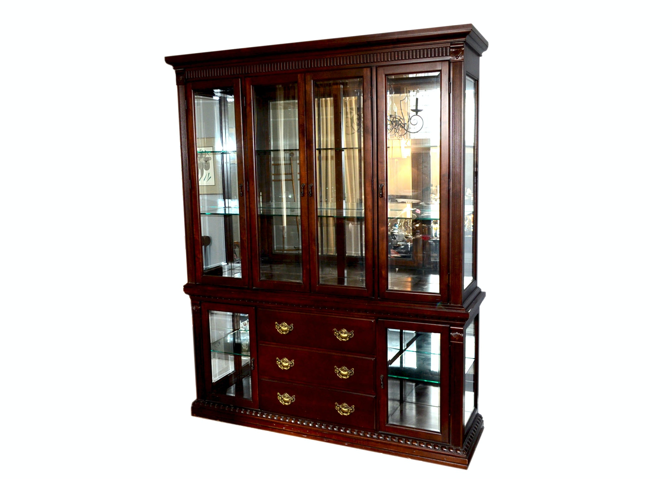 Heirloom Traditions Mahogany China Cabinet