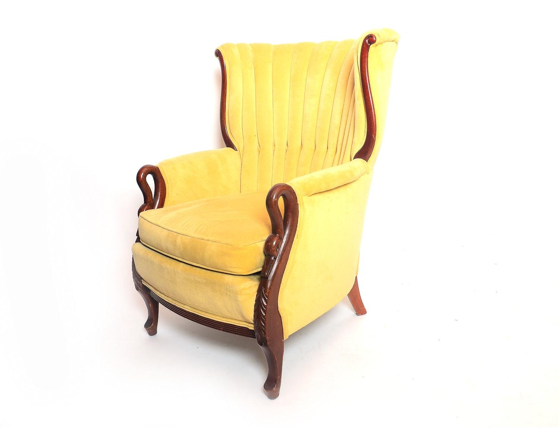 Duncan Phyfe Style Gooseneck Armchair ...