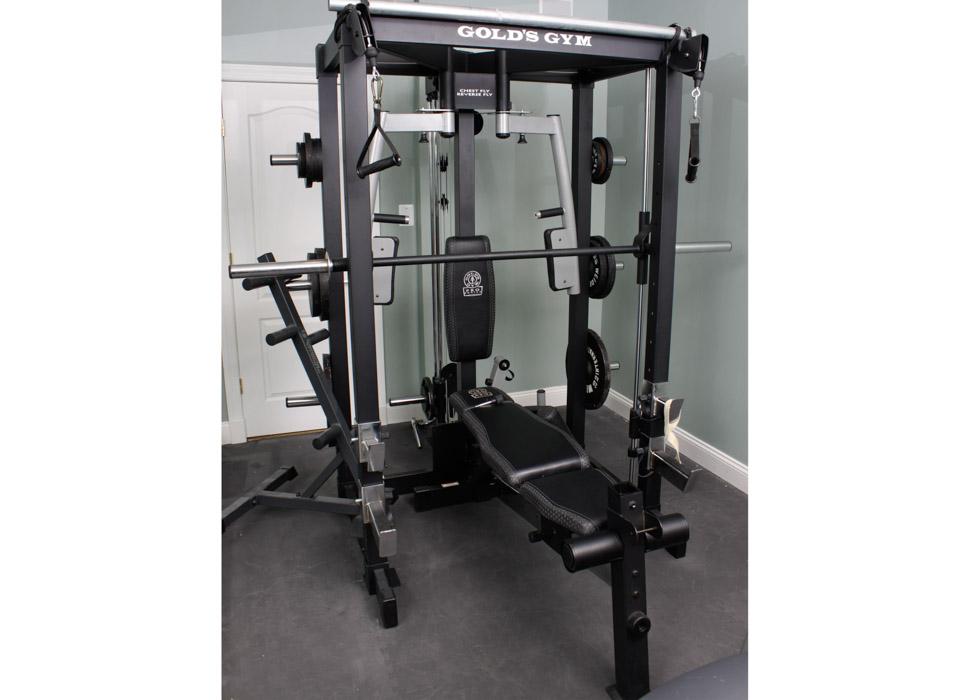 Custom gold s gym pro series irongrip strength personal gym ebth