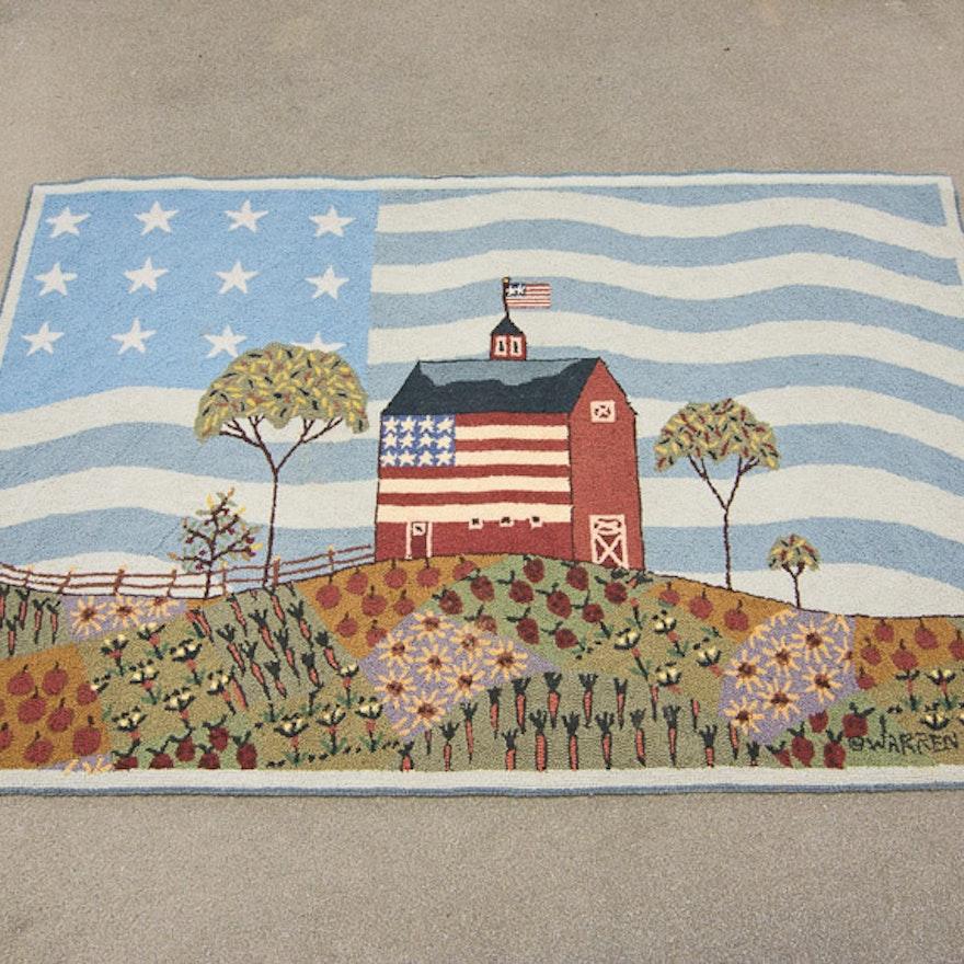 Warren Kimble America The Beautiful Nichols Hill Wall Rug
