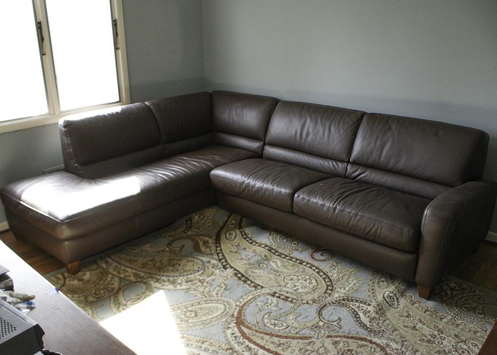 Italsofa Leather Sectional Sleeper Sofa ...