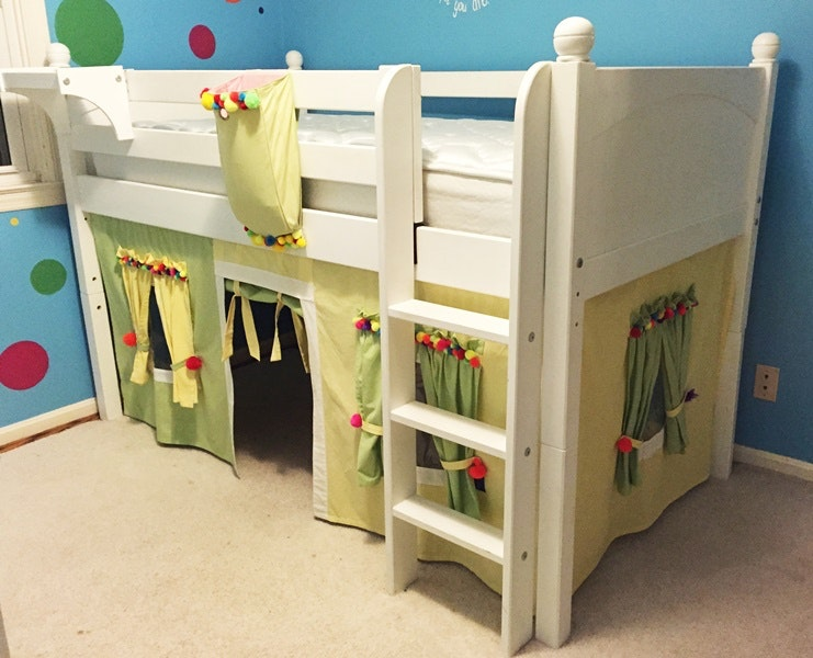 Twin Low Loft Bed By Maxwood Furniture