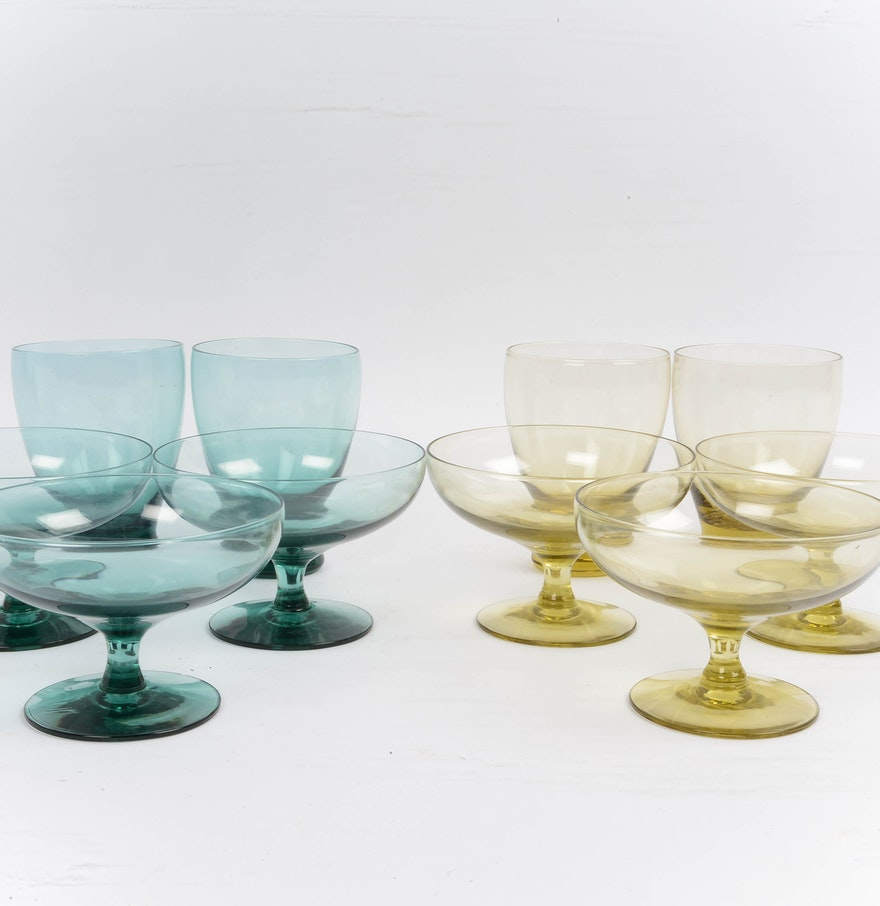 collection of russel wright american modern glassware  ebth - collection of russel wright american modern glassware