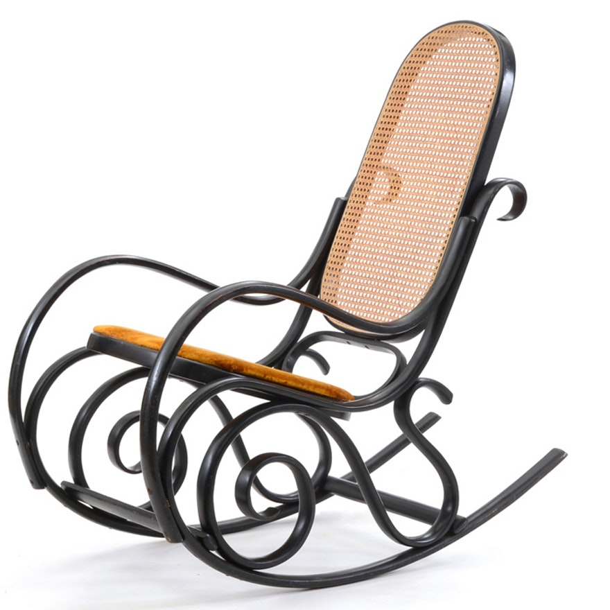 Incredible Italian Thonet Style Rocking Chair Gmtry Best Dining Table And Chair Ideas Images Gmtryco