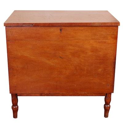 Antique Cherry Sugar Chest - Online Furniture Auctions Vintage Furniture Auction Antique
