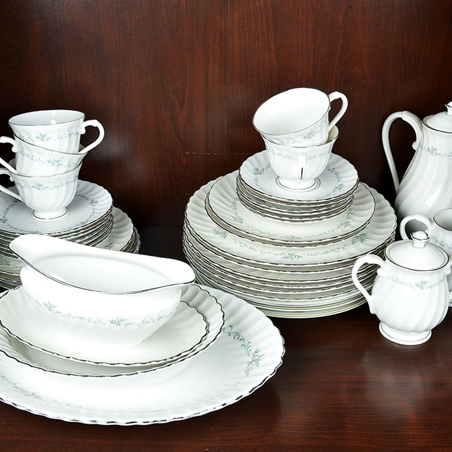 Syracuse Silhouette Fine China Collection in Sweetheart Pattern : EBTH