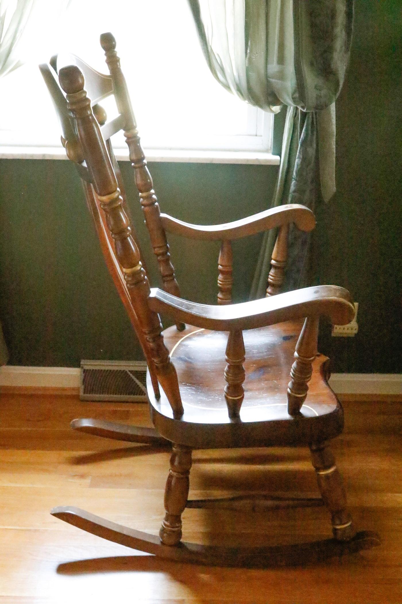 Virginia House Stenciled Rocking Chair Ebth