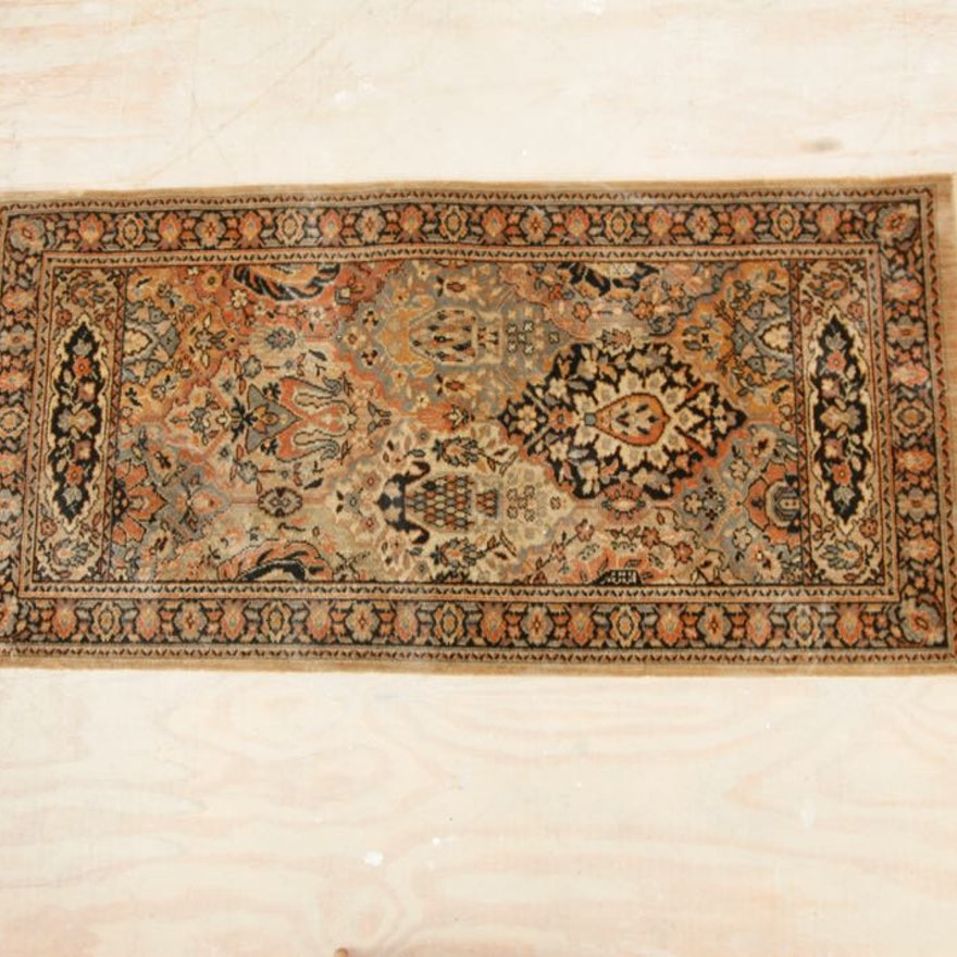 Vintage Mj Whittall Anglo Persian Wilton Oriental Rug