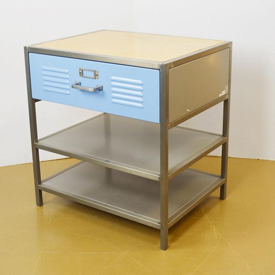 Pottery Barn Teen Locker Drawer Metal Cabinet Ebth