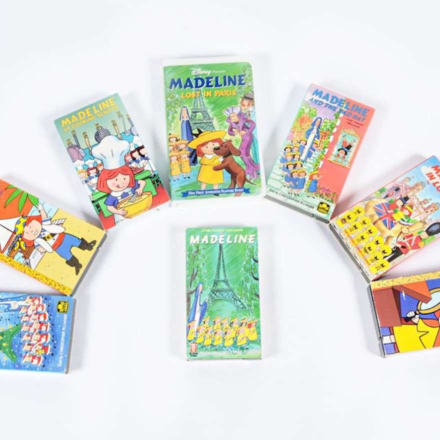 Set Of Eight Madeline VHS Tapes : EBTH