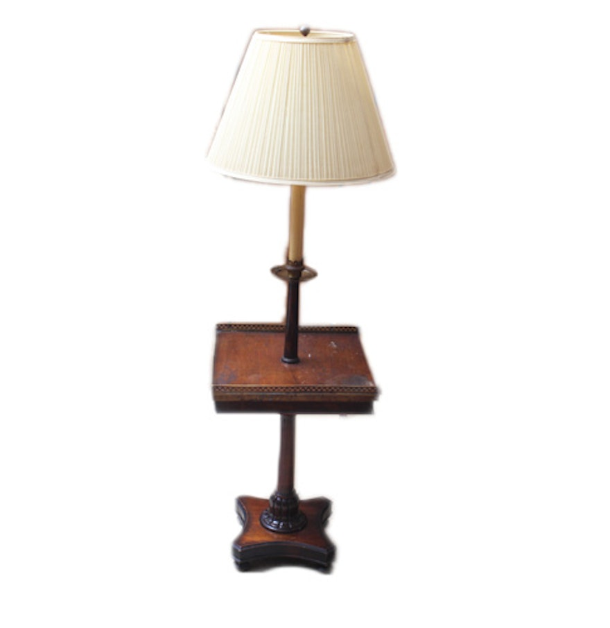 Floor Lamp With Tray Table Ebth