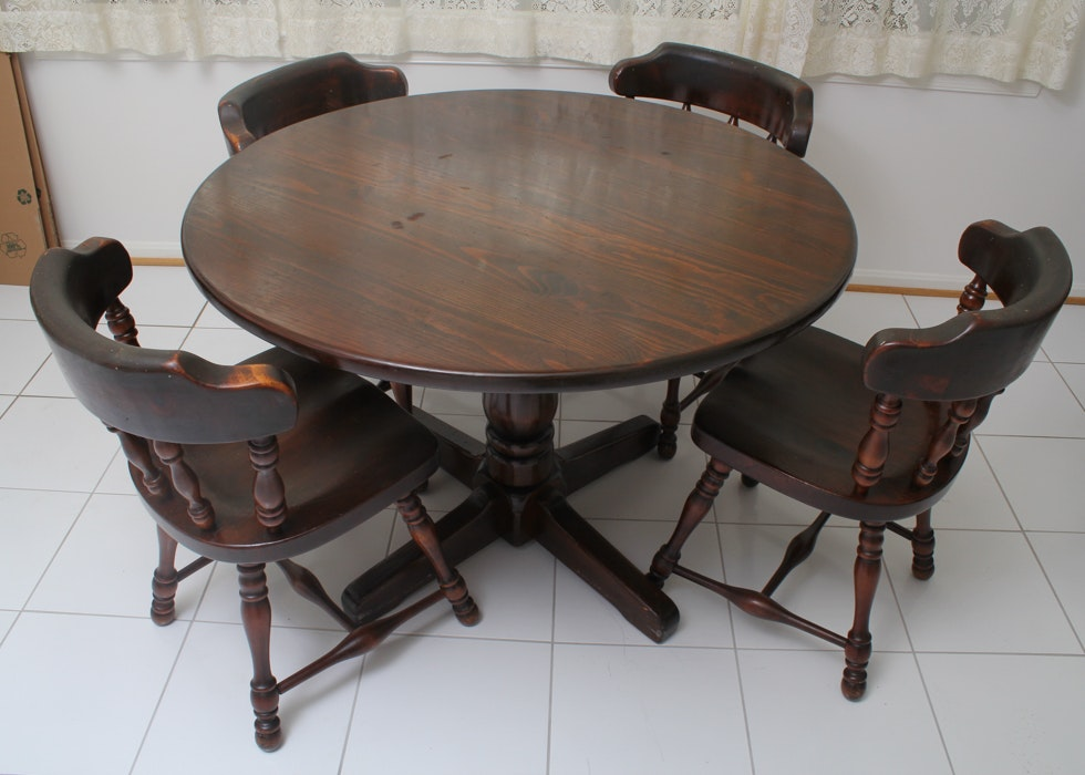 Exceptionnel Ethan Allen American Heritage Dining Table And Chairs ...
