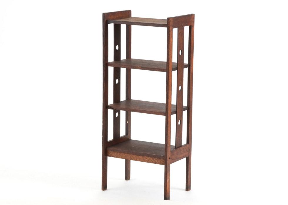 Gustav Stickley Furniture For Sale Arts and Crafts Oak Bookshelf Stand : EBTH