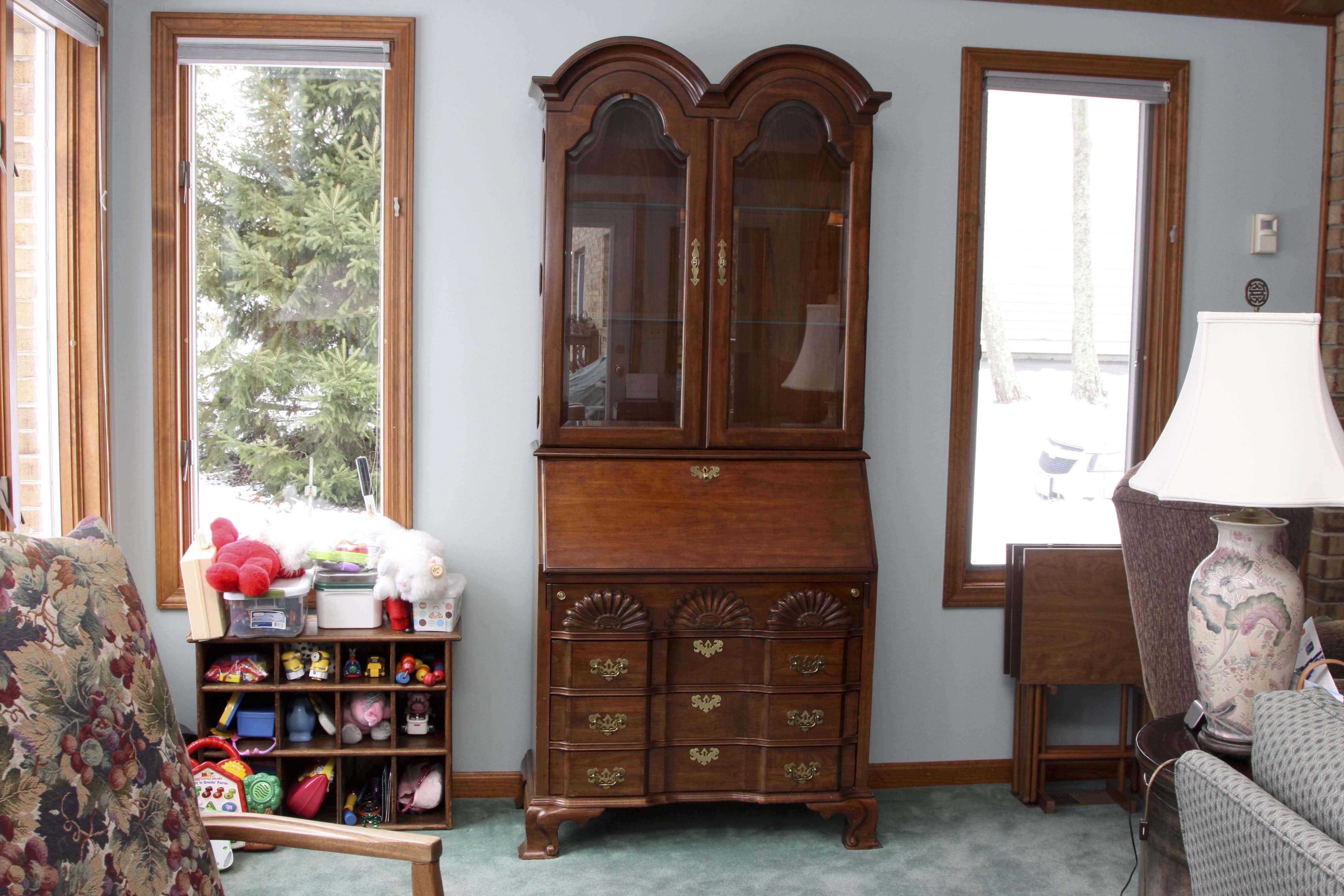 Vintage Jasper Cabinet Secretary Mail Cabinet