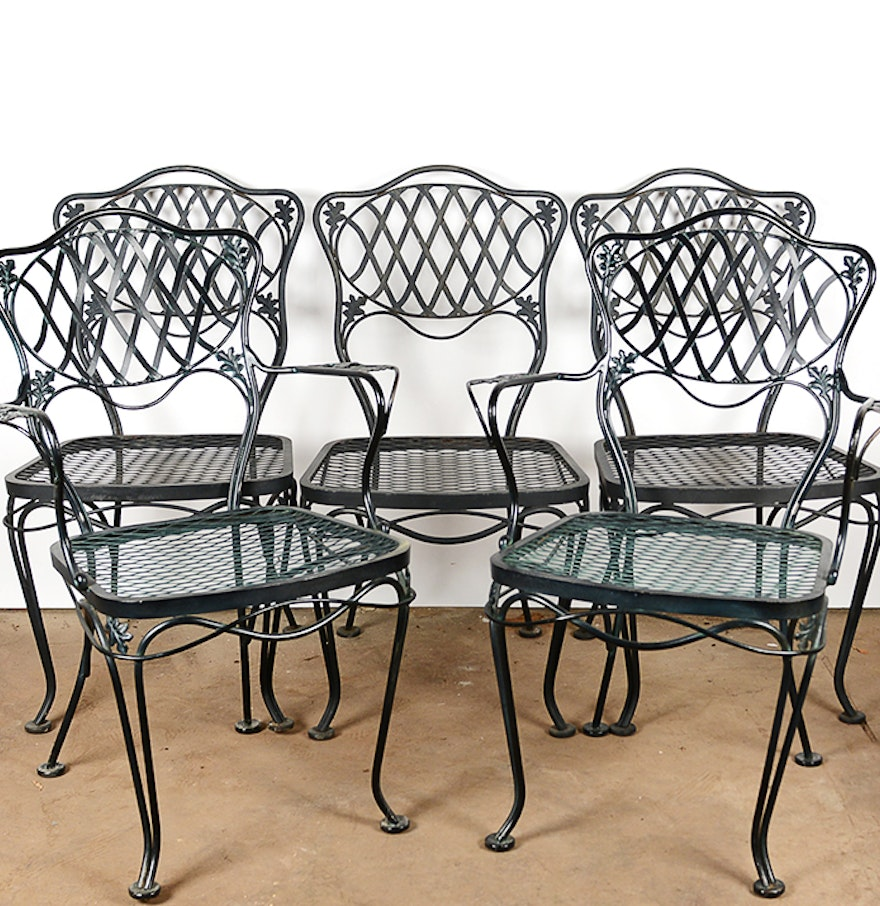Black Metal Patio Dining Chairs Ebth