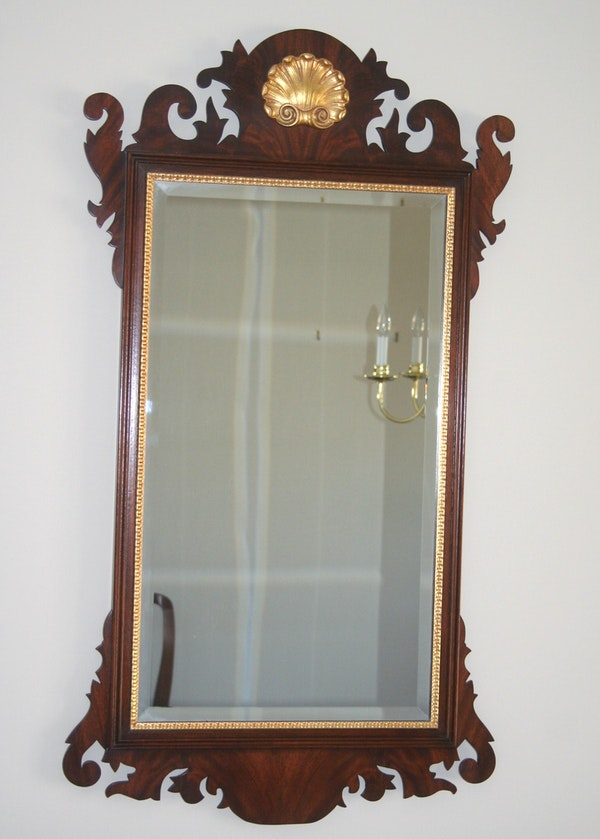 Chippendale style fret carved mirror ebth for Mirror 34 productions