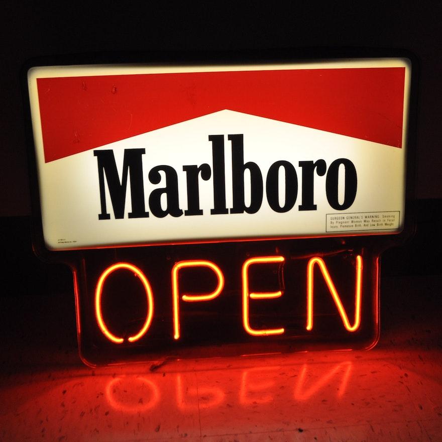 Lighted Marlboro Sign