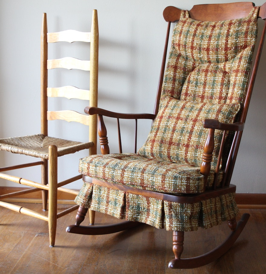 Rocking and Ladder Back Chair : EBTH