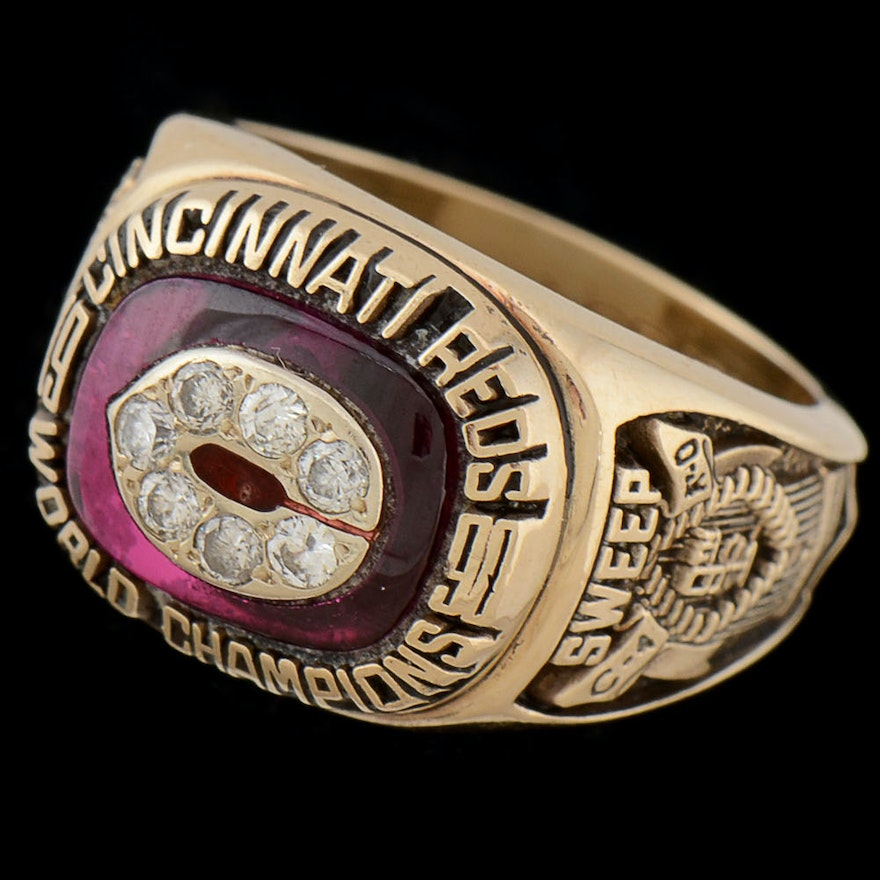 10K Gold with Diamonds 1990 World Series Ring with Original Box