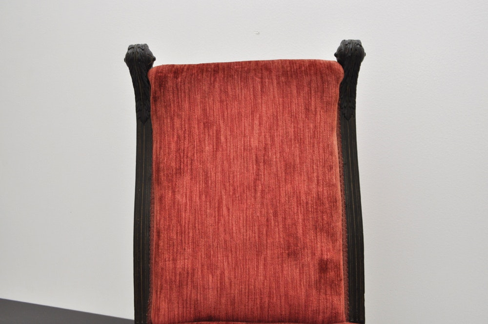 Pair Of Aesthetic Movement Red Upholstered Chairs Ebth