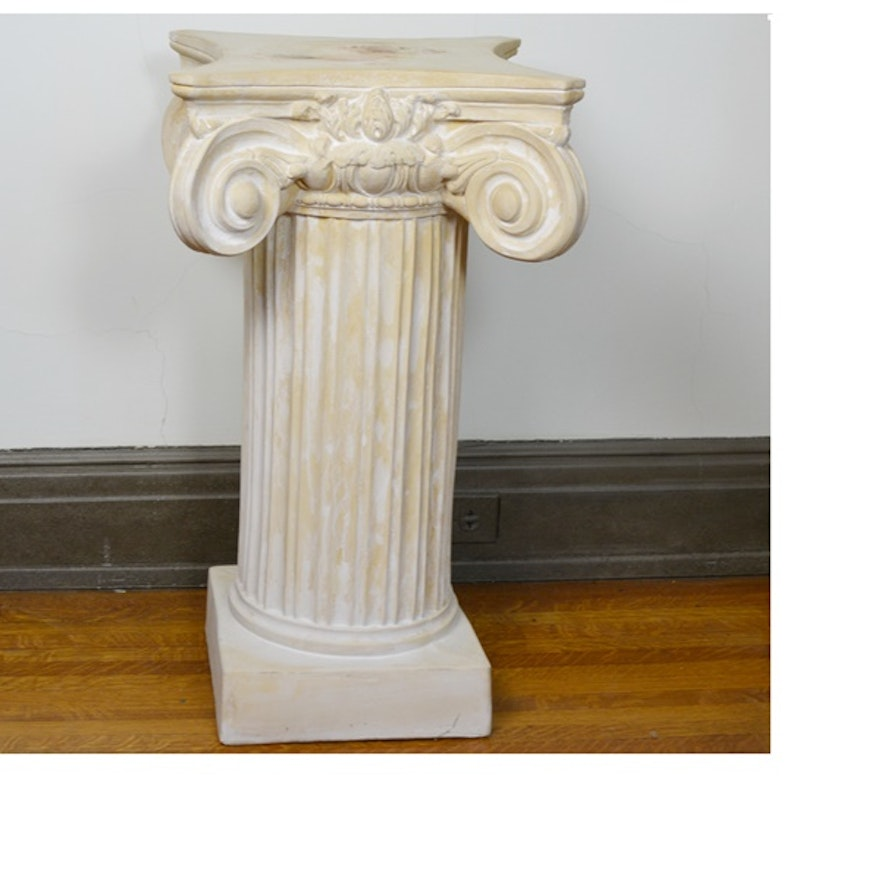 the pedestal img pedestals elemental plaster french elegant garden shop