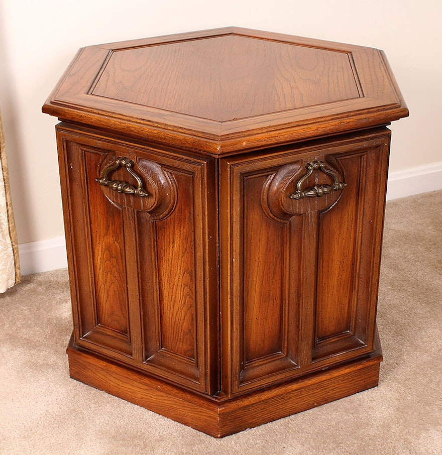 Octagon Side Table ~ Mid century octagonal side table ebth