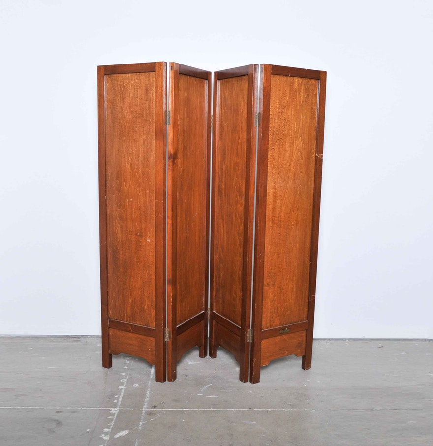 Four panel room divider ebth for Four panel room divider screen