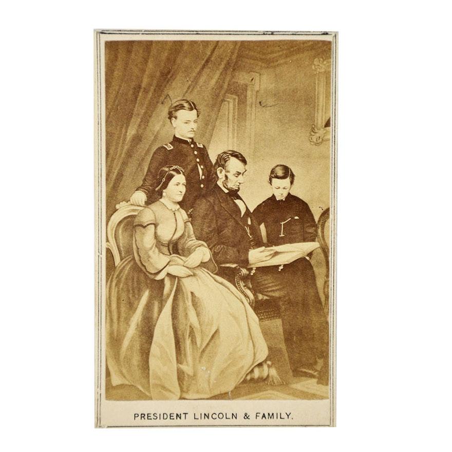 Antique President Lincoln Family Carte De Visite EBTH