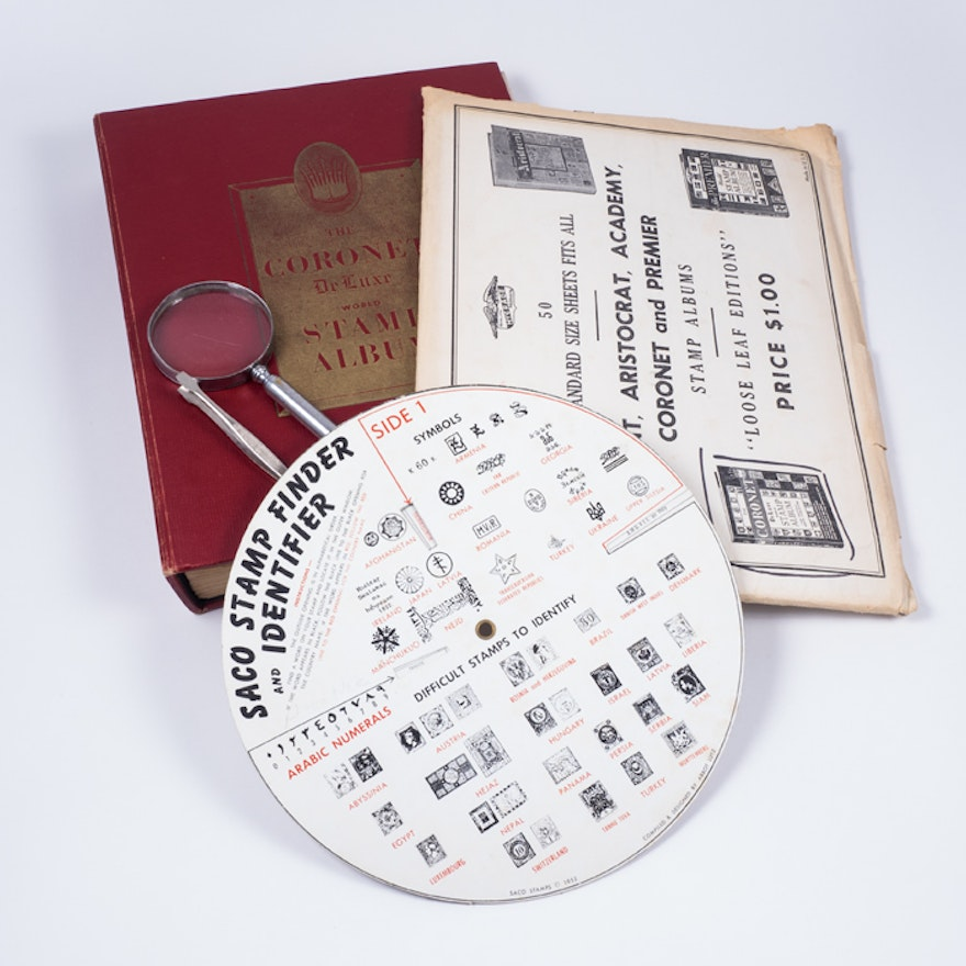 The Coronet Deluxe World Stamp Album and Stamp Collector Accessories