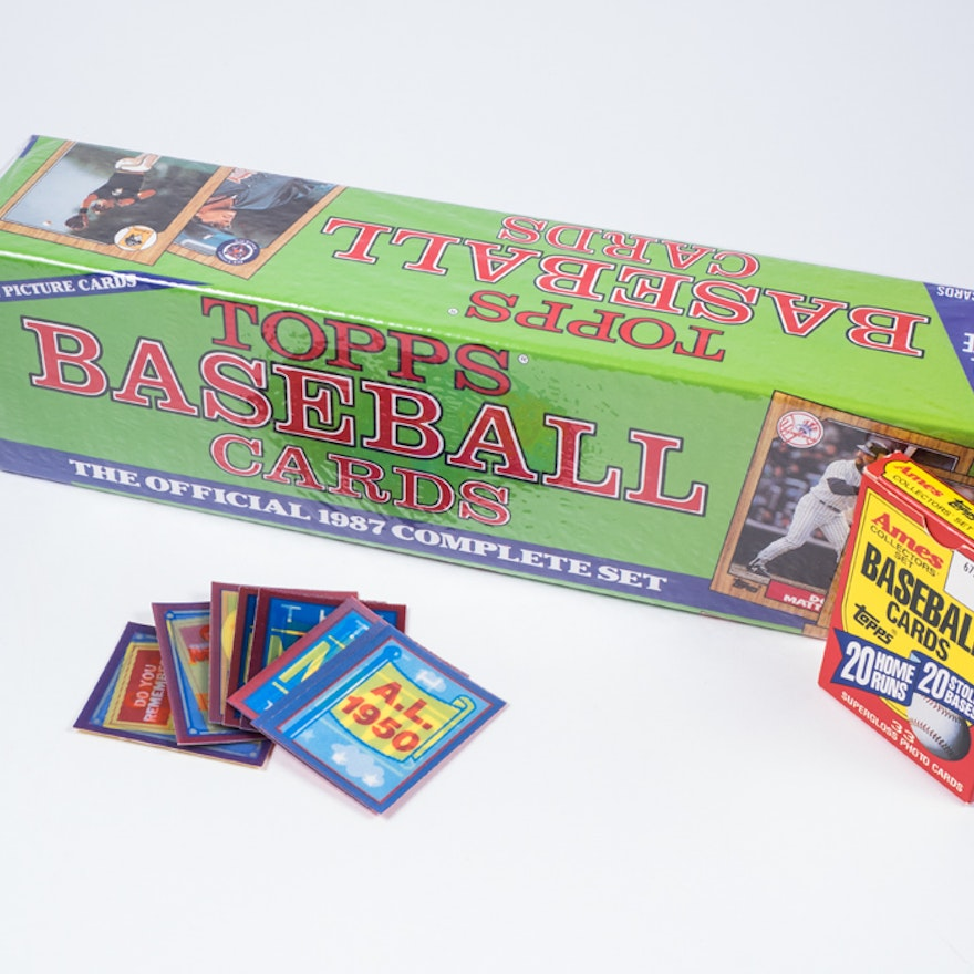Topps Baseball Cards The Official 1987 Complete Set Ebth