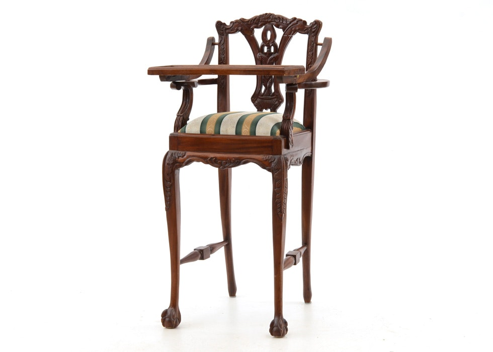 Mahogany Chippendale Style High Chair ...