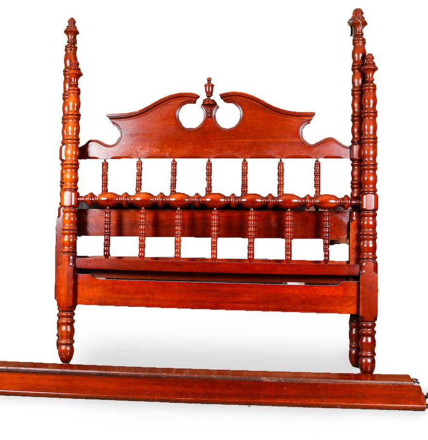 Davis Furniture Cherry Full Size Headboard and Footboard EBTH