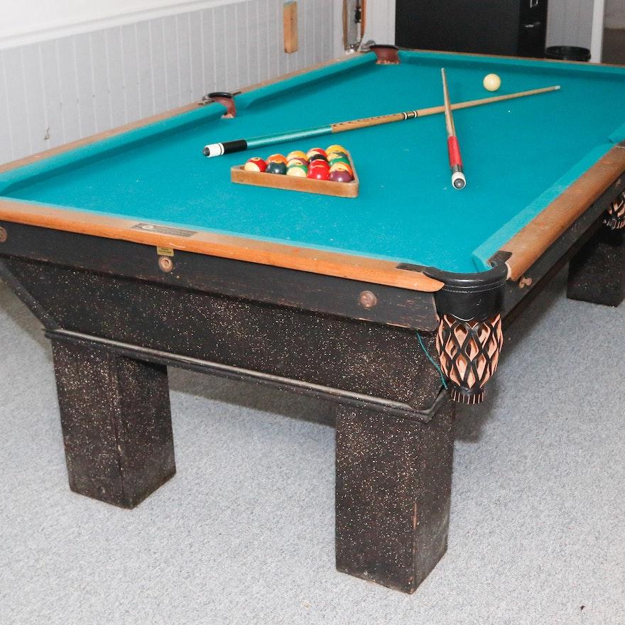 National Billiard Mfg Co Pool Table EBTH - Topline pool table